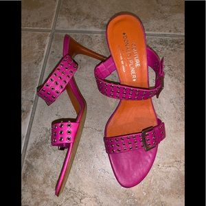 Stunning Hot Pink/Orange Donald Pliner Heels